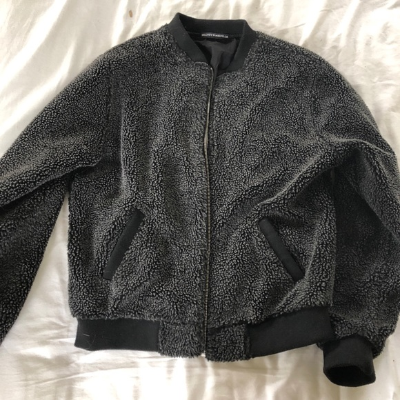 0cfba7757 Brand new brandy Melville fuzzy bomber jacket